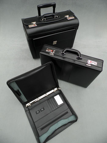 standard briefcases, pilots cases and presentation items